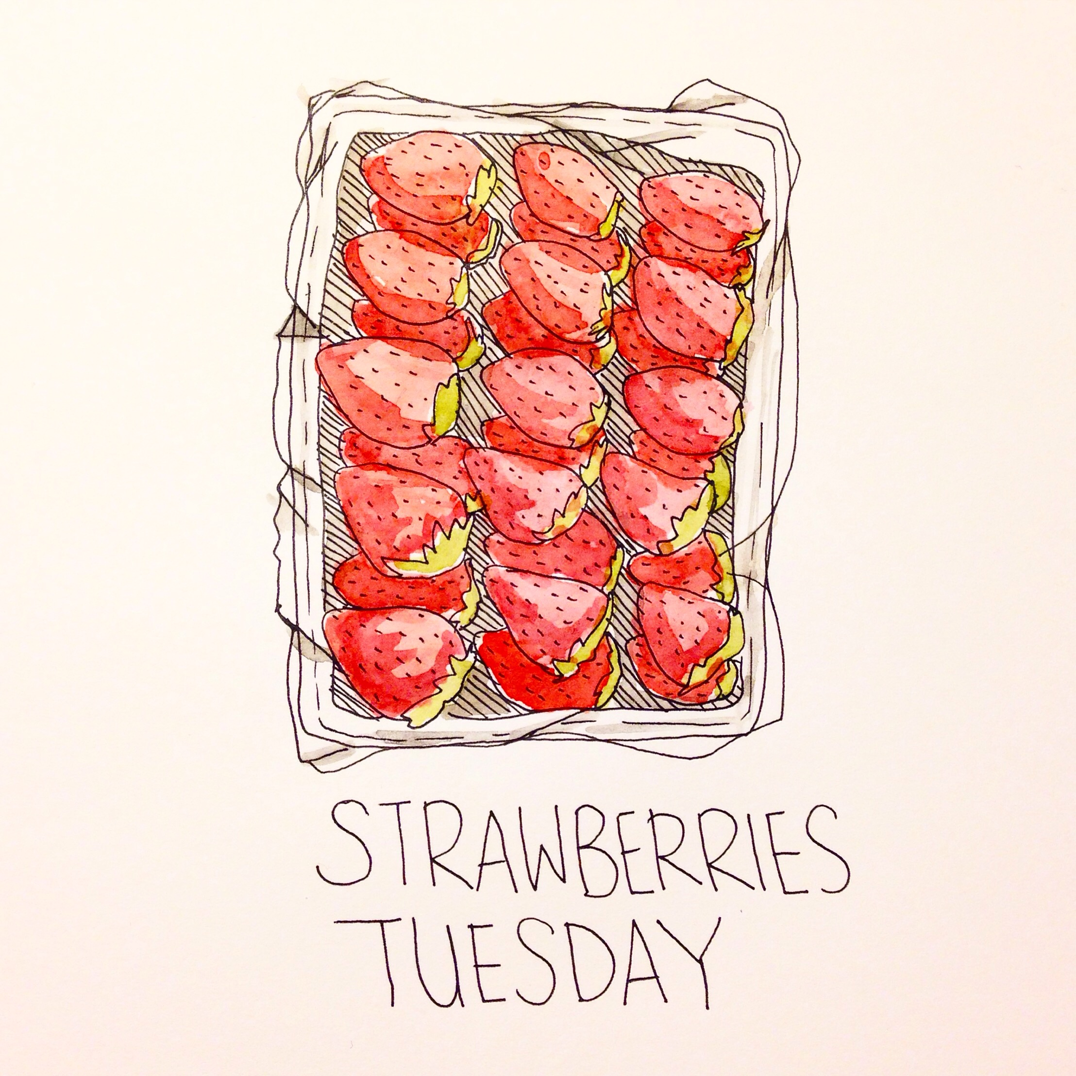 Strawberries from Saga Prefecture Japan, An Illustration