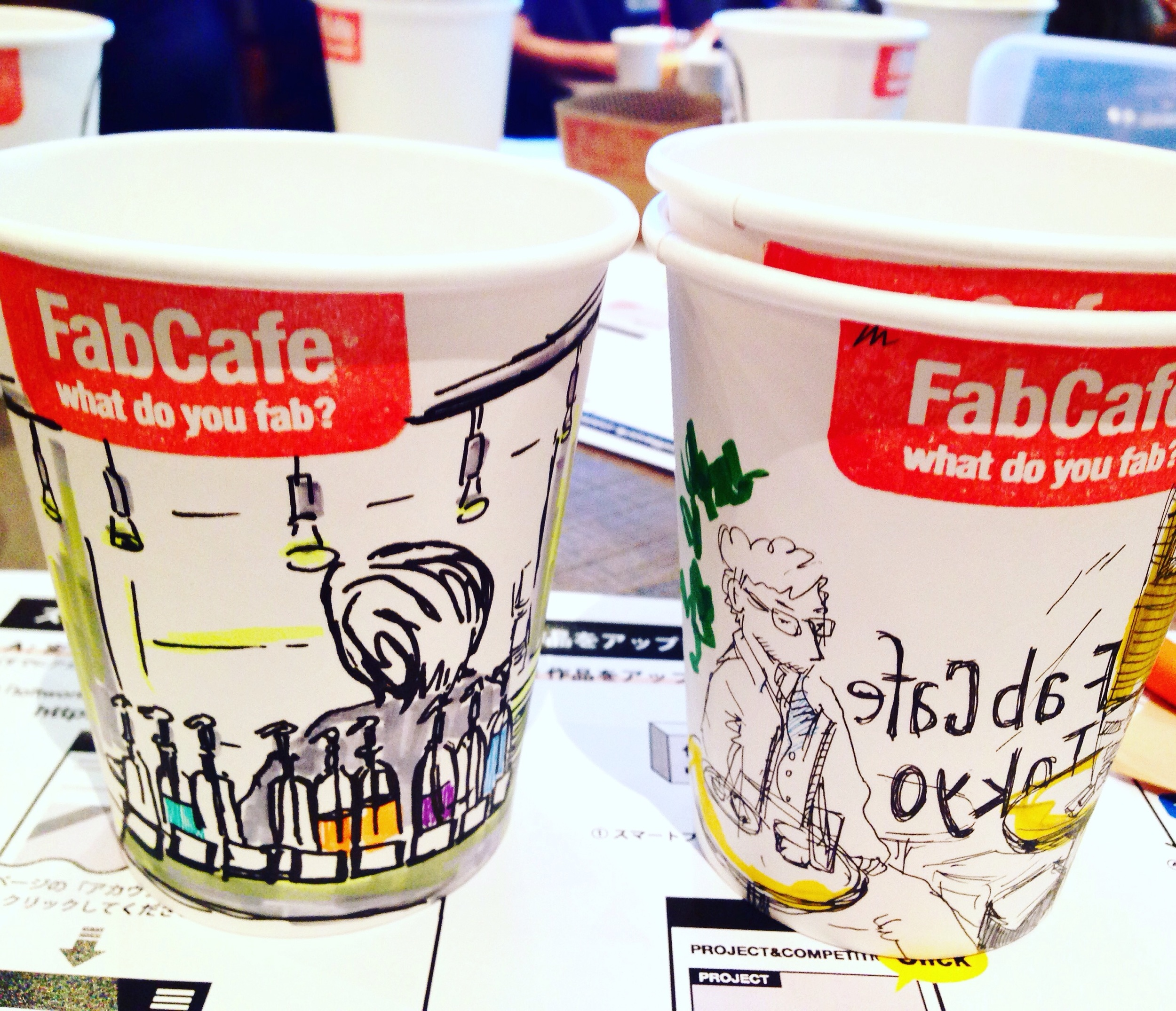 And so I did 2 of the interiors of FabCafe.