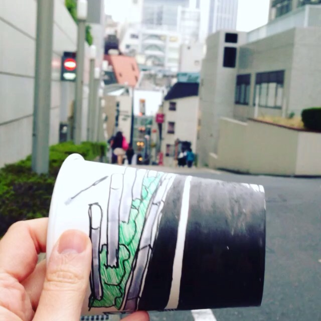 Also a cup roll of Shibuya!