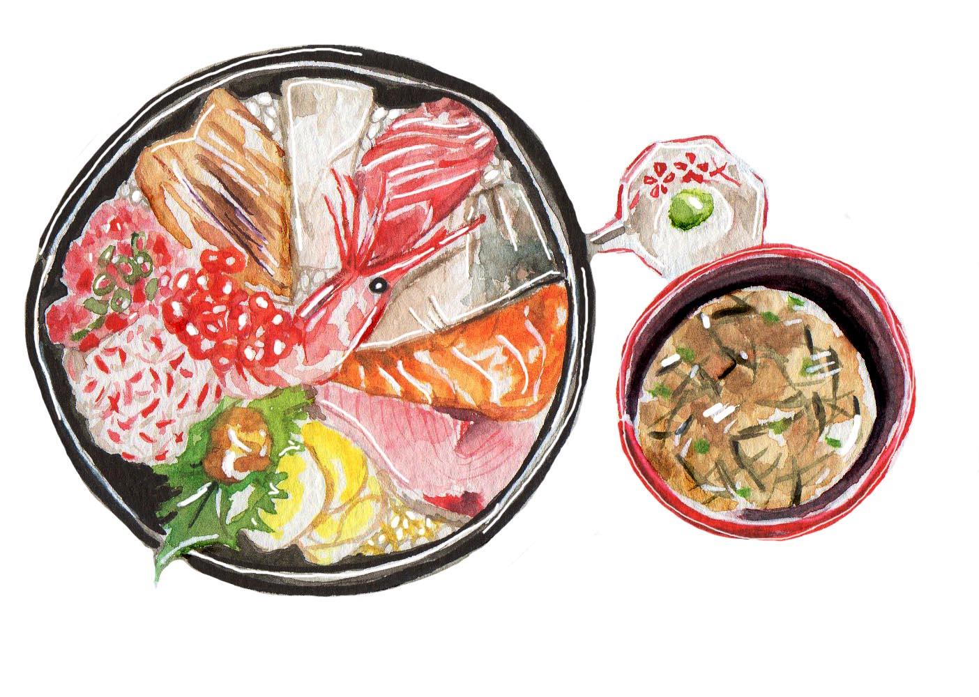 Kaisendon (Fresh Seafood Bowl)