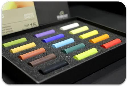 Rembrandt Soft Pastels (half stick) 15 Colours (image from artstuff.net)