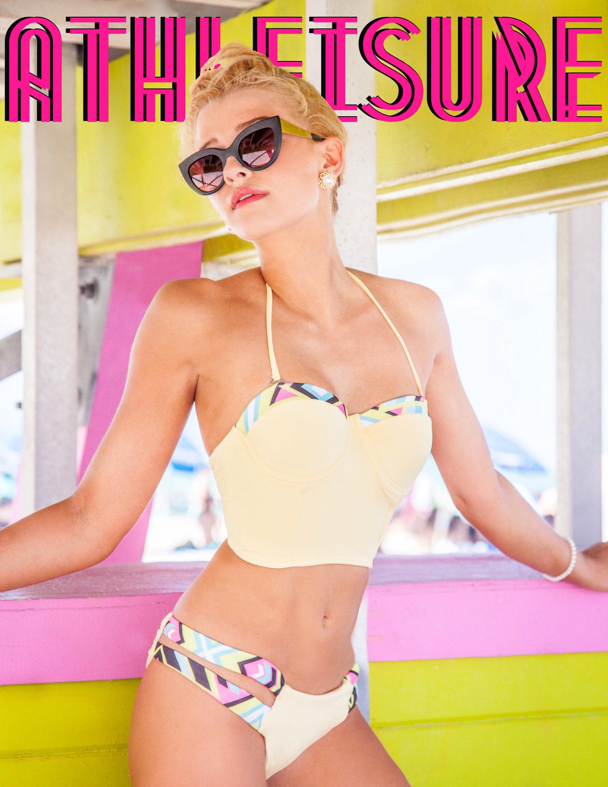 Sara Smith on Cover of Athleisure Magazine