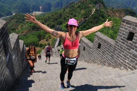 Marathon Runner - I used to HATE running but somehow in my 40's I caught the running bug and here I am on my first ever full marathon on The Great Wall of China! It was 110° Fahrenheit and the hardest part of the run was at mile 21! I have since ran the NYC Marathon and the Transylvania 100!
