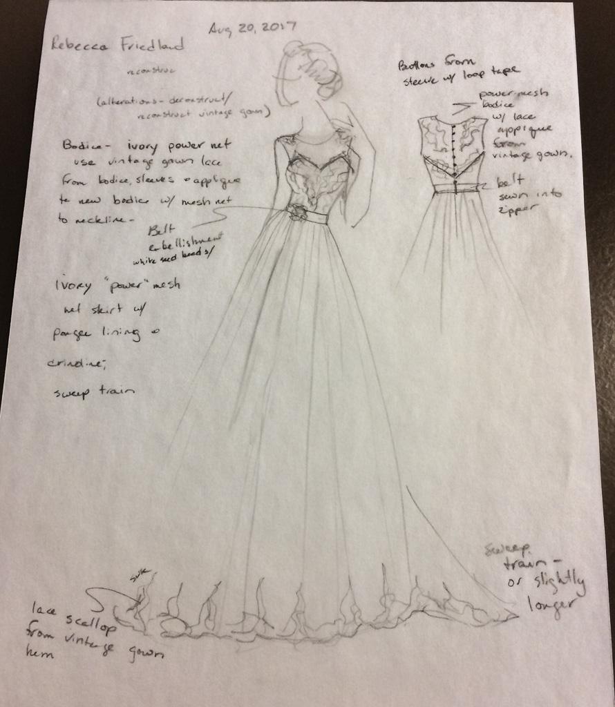 Original dress design.