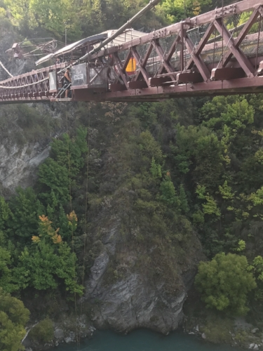 Take the plunge from a bridge like this one - the Kawarau Suspension Bridge outside of Queenstown, where bungy was first invented!