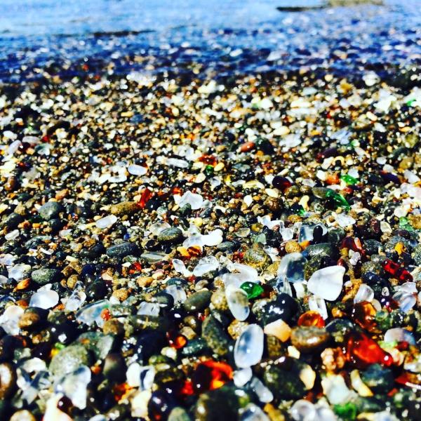 The glass beach in Fort Bragg.