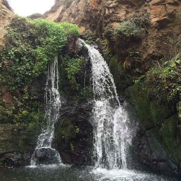 Waterfall near the end of the Alamere Falls hike.