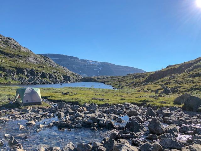 A pretty epic place to camp!