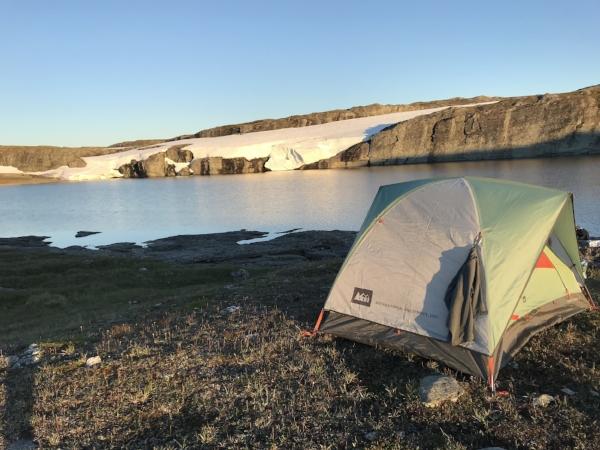 Campsite night 2, not far from Torehytten.