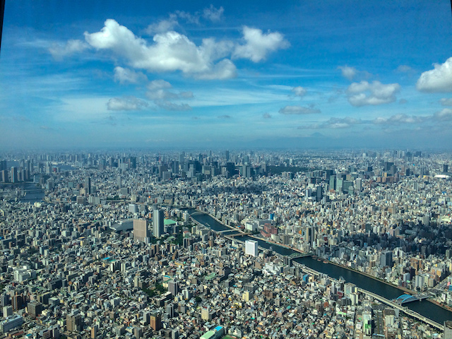Views from the top of the Tokyo Skytree.
