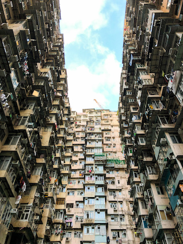 """Yick Cheong building, otherwise known as """"Monster Building""""."""