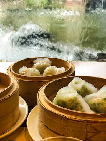 Dumplings at Chi Lin Vegetarian.