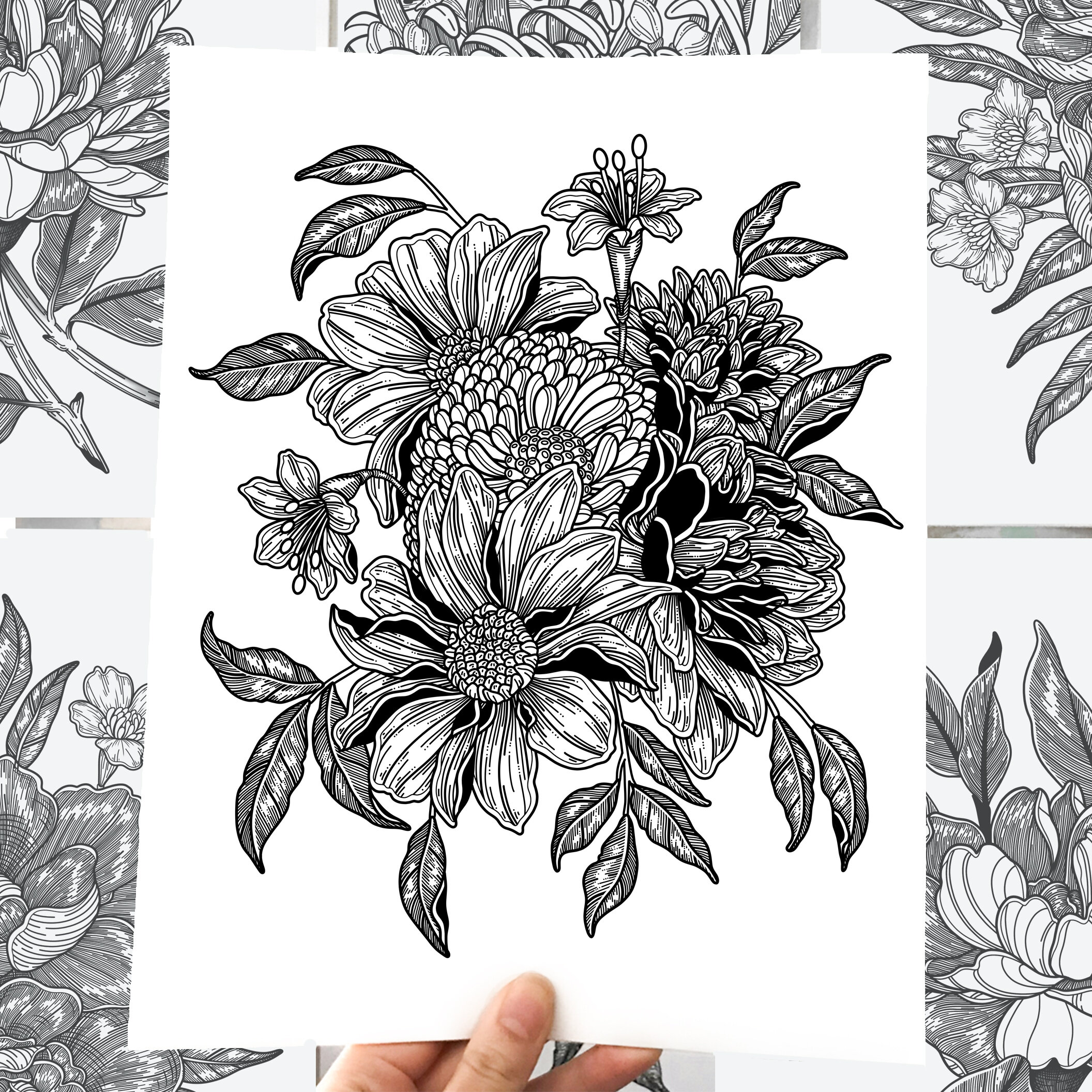 Memento FLora - Instead of mourning the felting moments of life, Nestingzone's Memento Flora collection is a series of botanical illustrations drawn to celebrate the beauty of nature.Never fading, never decaying, these drawings are your forever flowers.