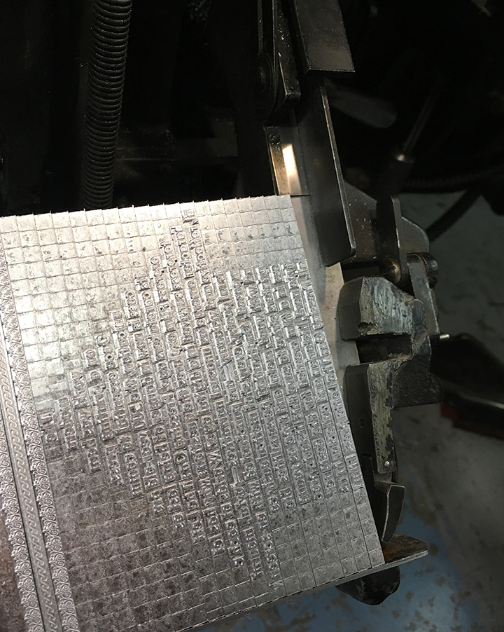 Slugs on Linotype Galley.jpg