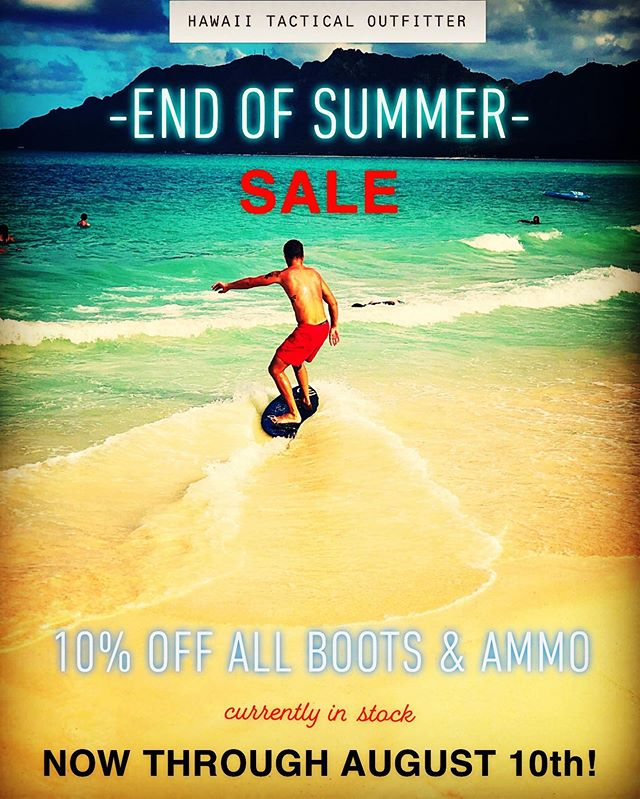 We're ending the summer with this sweet sale!  #hawaiitactical #hawaiitacticaloutfitter