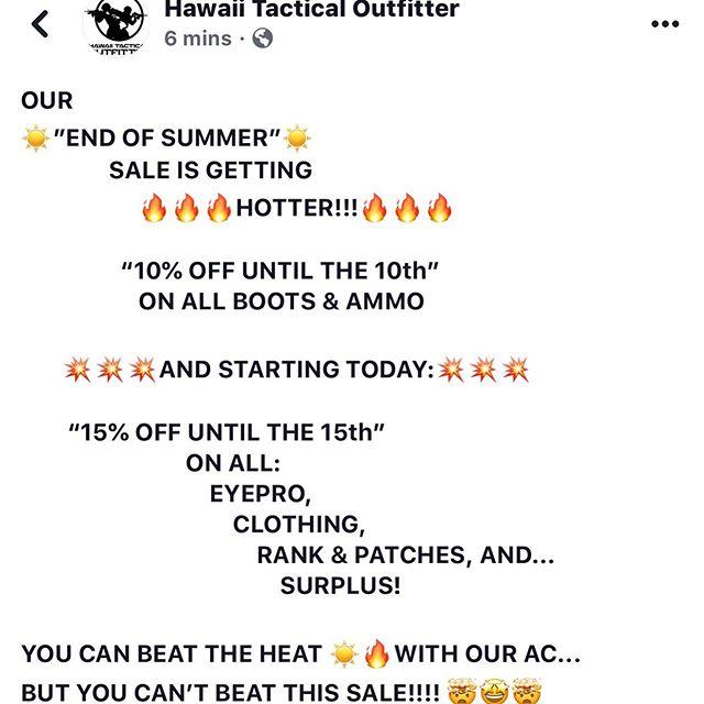 🔥☀️😎😎😎☀️🔥 #hawaiitacticaloutfitter #hawaiitactical