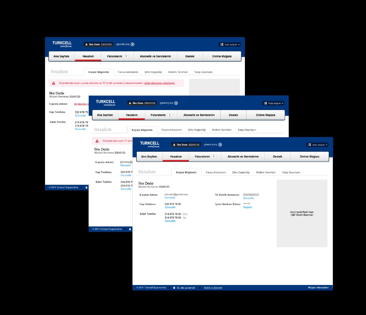 Managing personal information