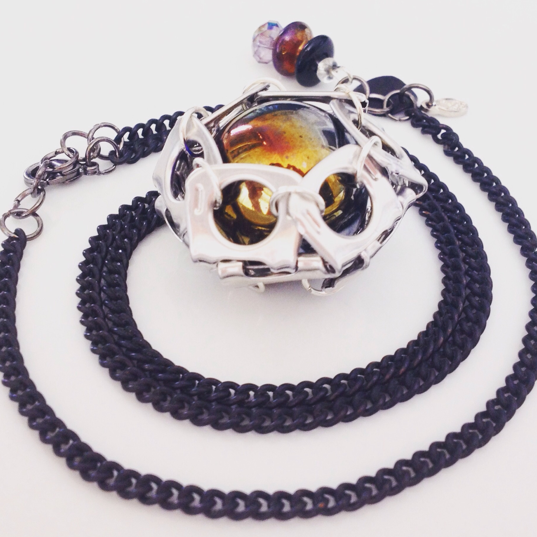 "Necklace ""Dark Galaxy""_Pulltabs Collection"