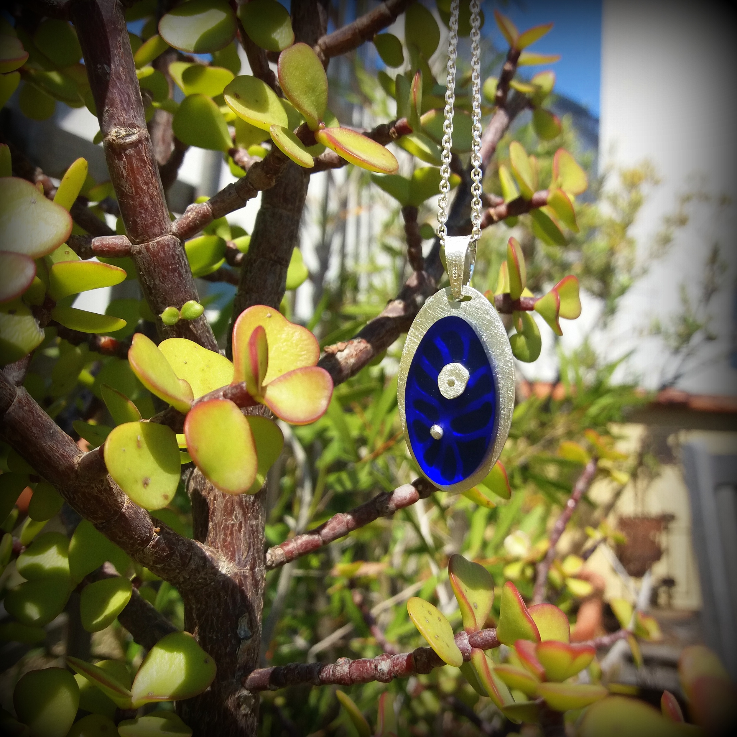 """Necklace """"Blue Forest"""""""