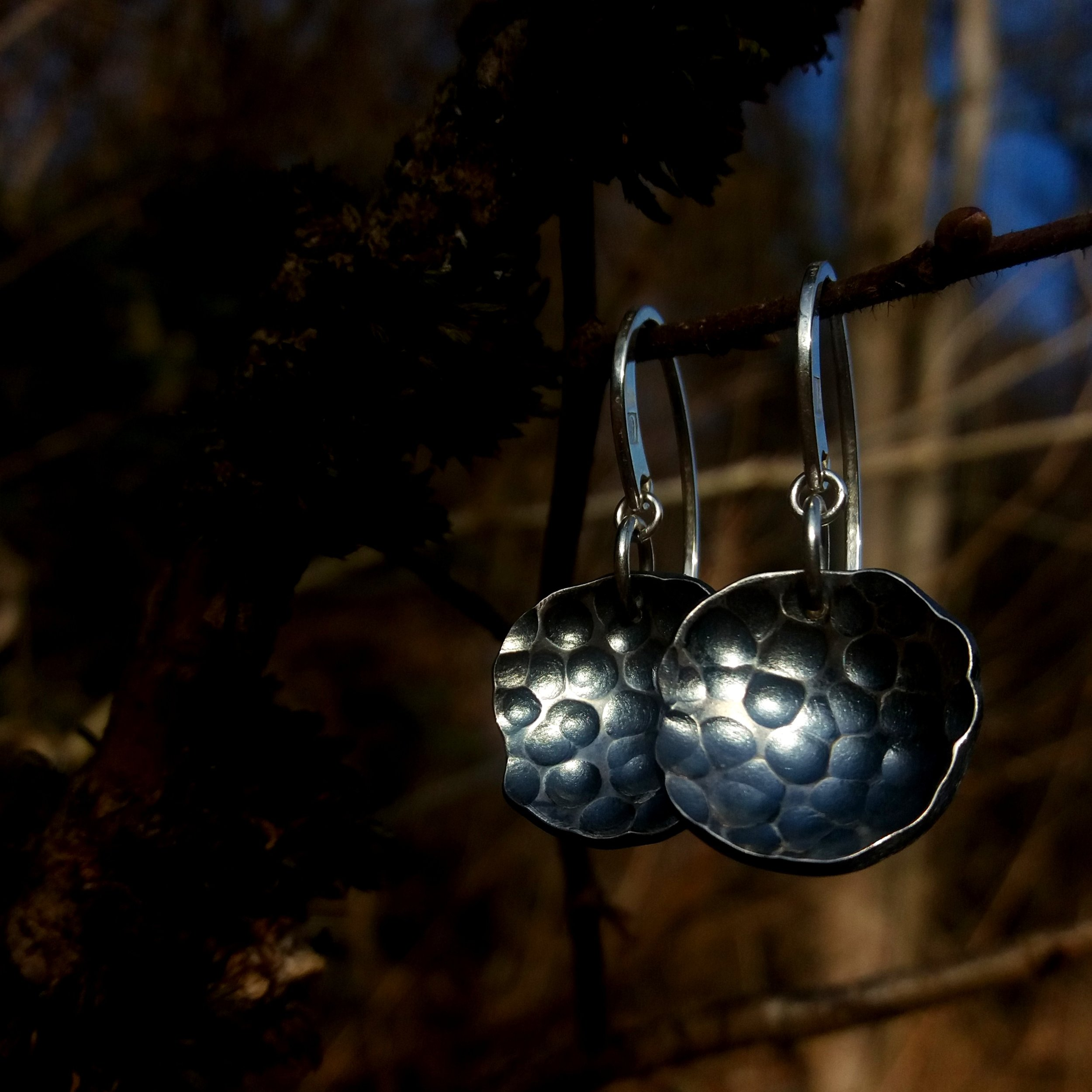 "Earrings ""Tree bark""_Harvest Collection"