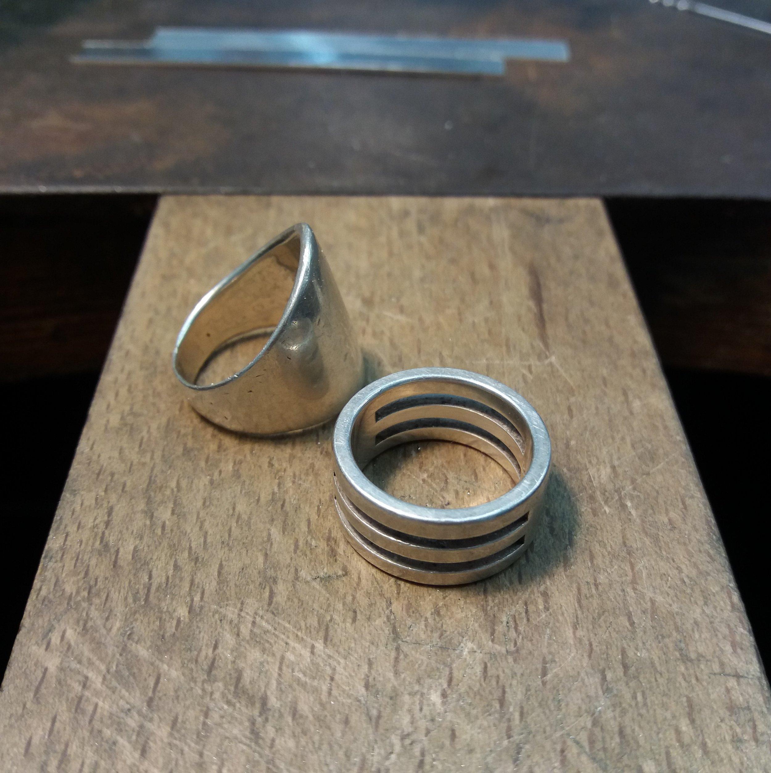 Unworn rings...