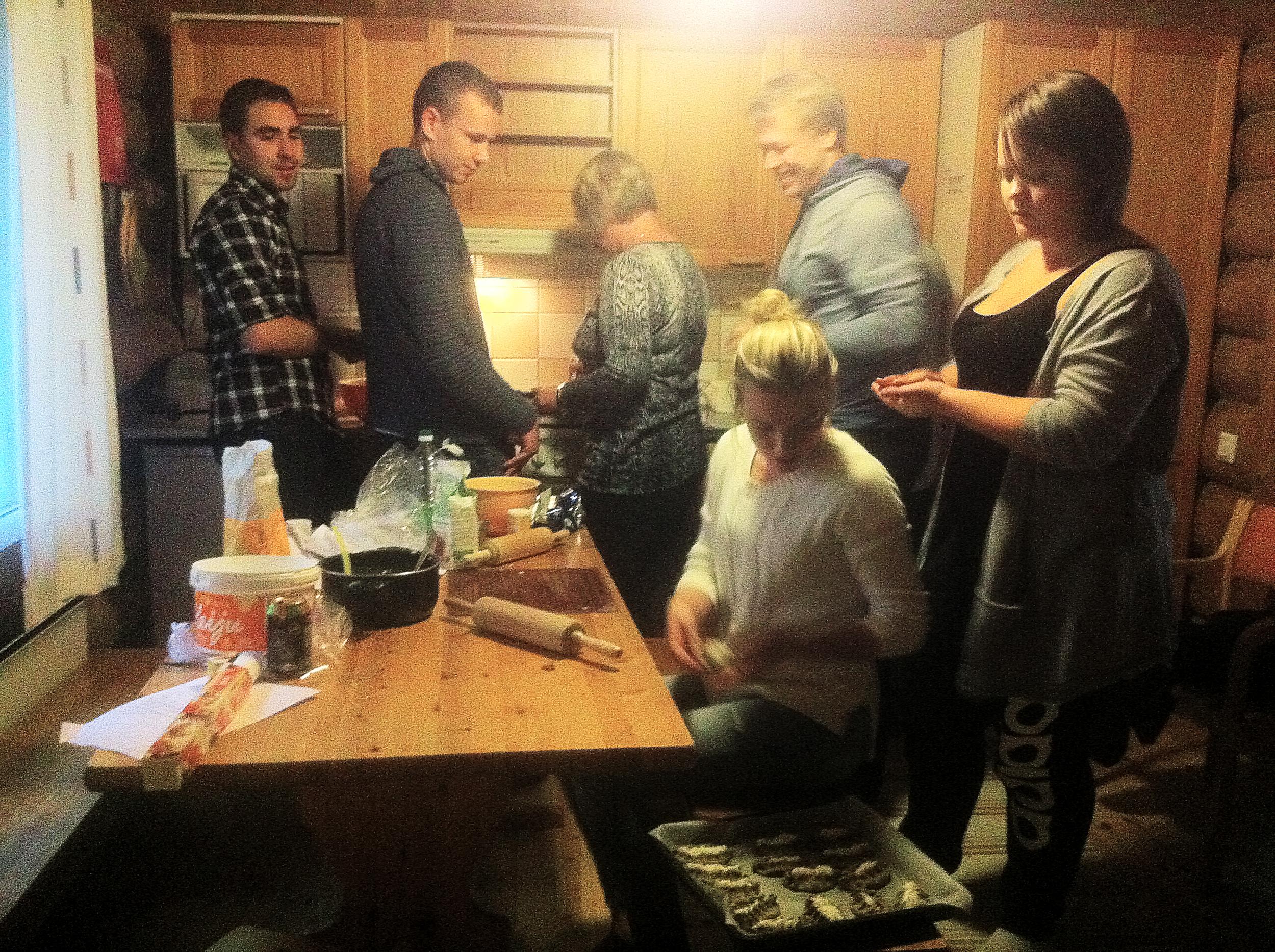 Leivontakestit eräänä viileänä tiistai-iltana