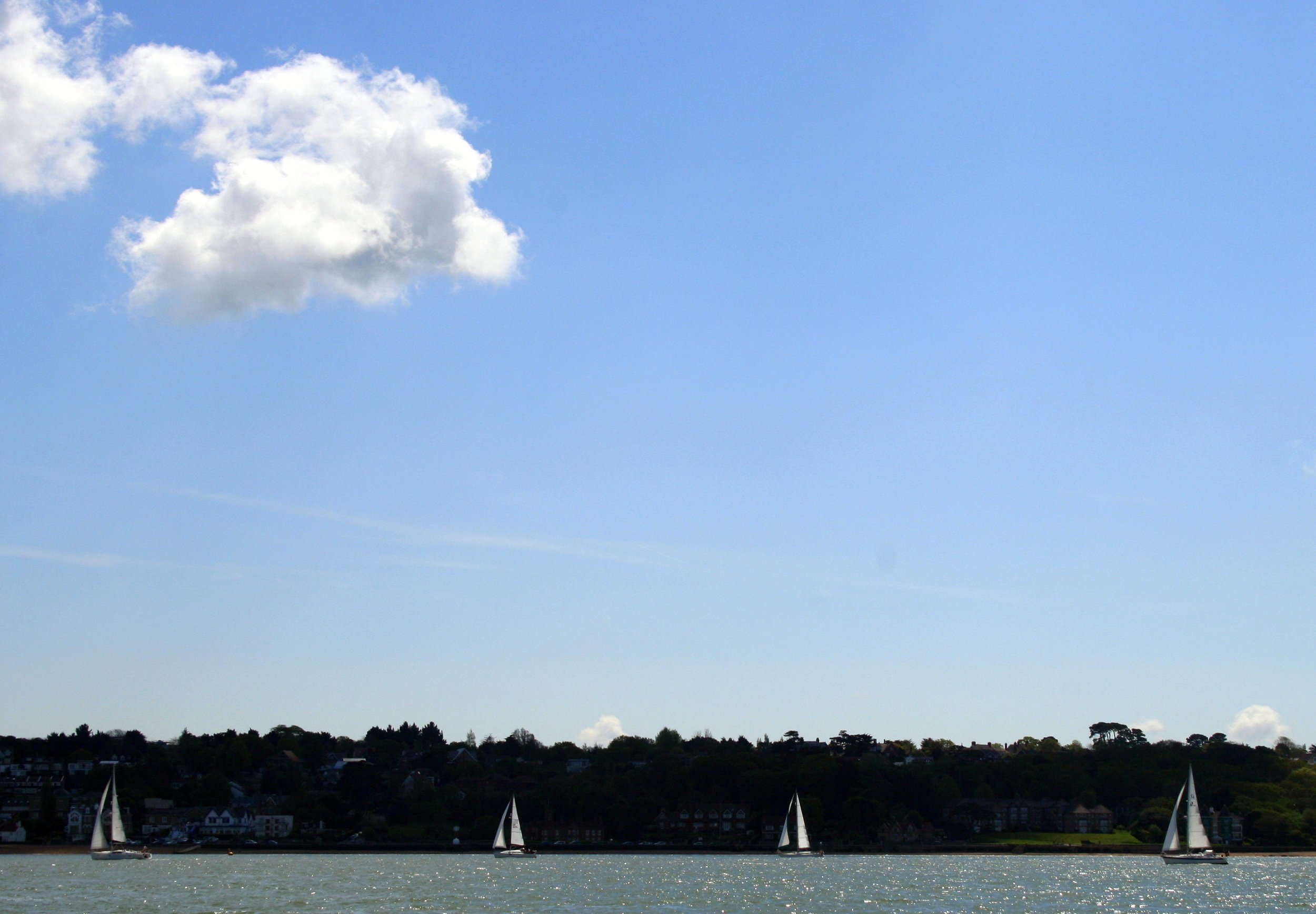 Conveniently-spaced yachts near Cowes, Isle of Wight  (Humphrey Butler/Marvellous Maps)