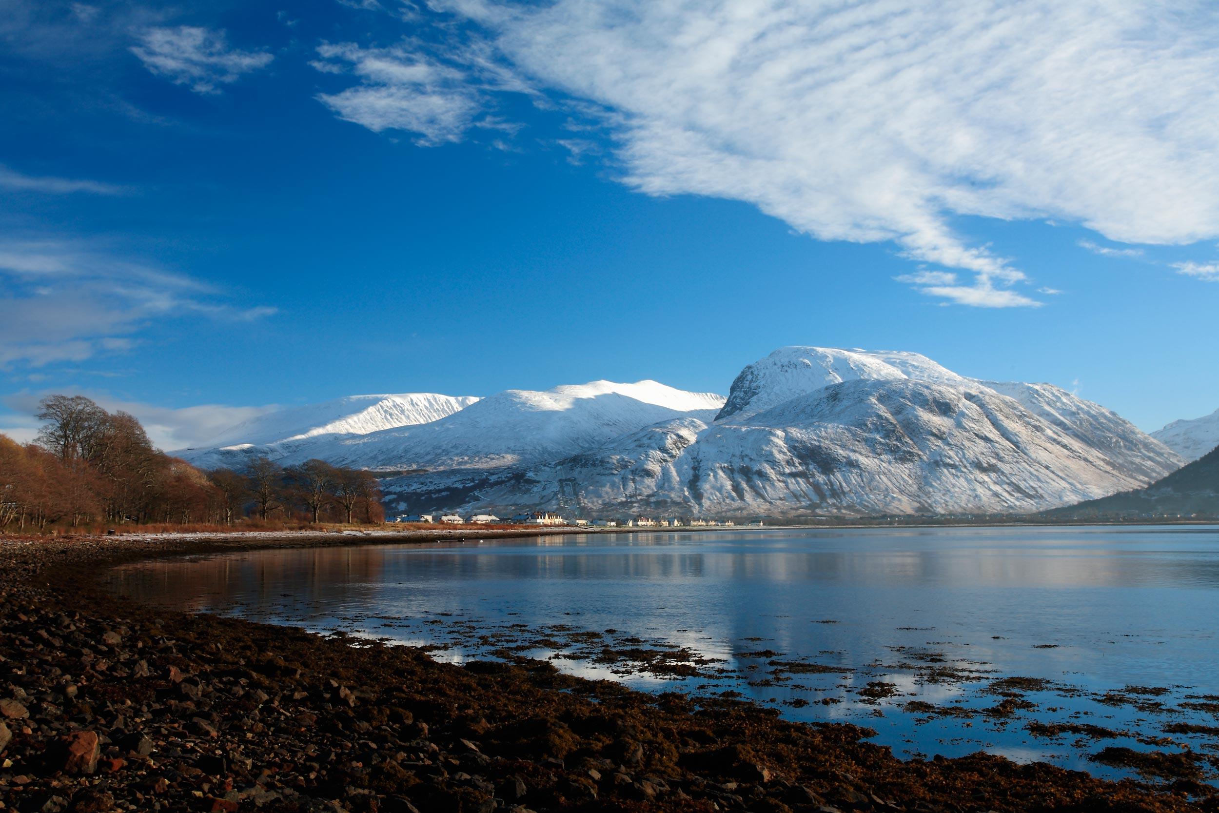 Ben Nevis from Corpach on the shores of Loch Eil, Lochaber, Scotland  (Shutterstock)