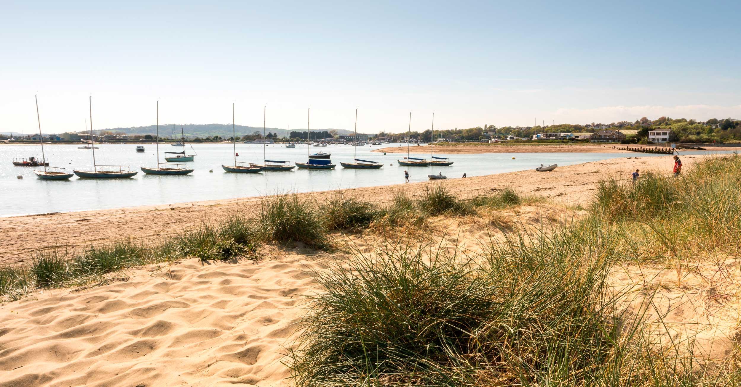 Boats in Benbridge Harbour, Isle of Wight  (Laurence Baker/Shutterstock)