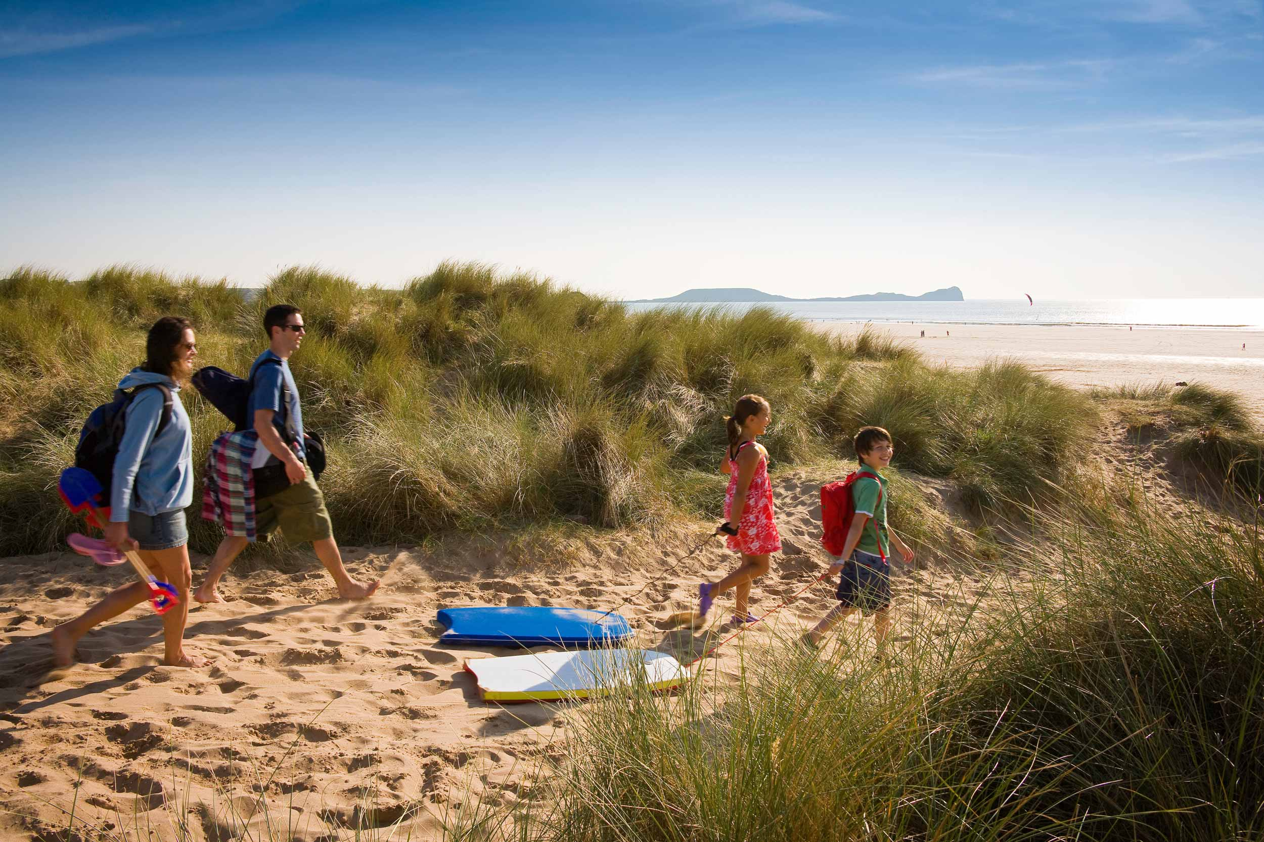 Beach fun on the Gower peninsula, Wales  (Crown copyright 2018 / Visit Wales)