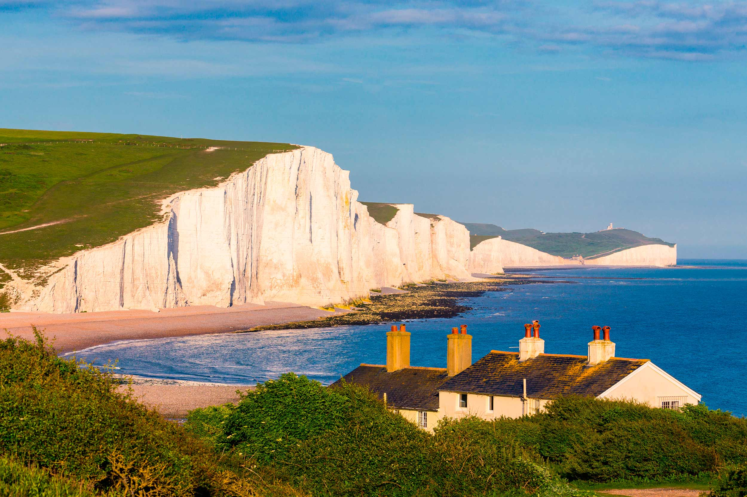 Seven Sisters from Cuckmere, in the South Downs, England  (Daniel Lange/Shutterstock)