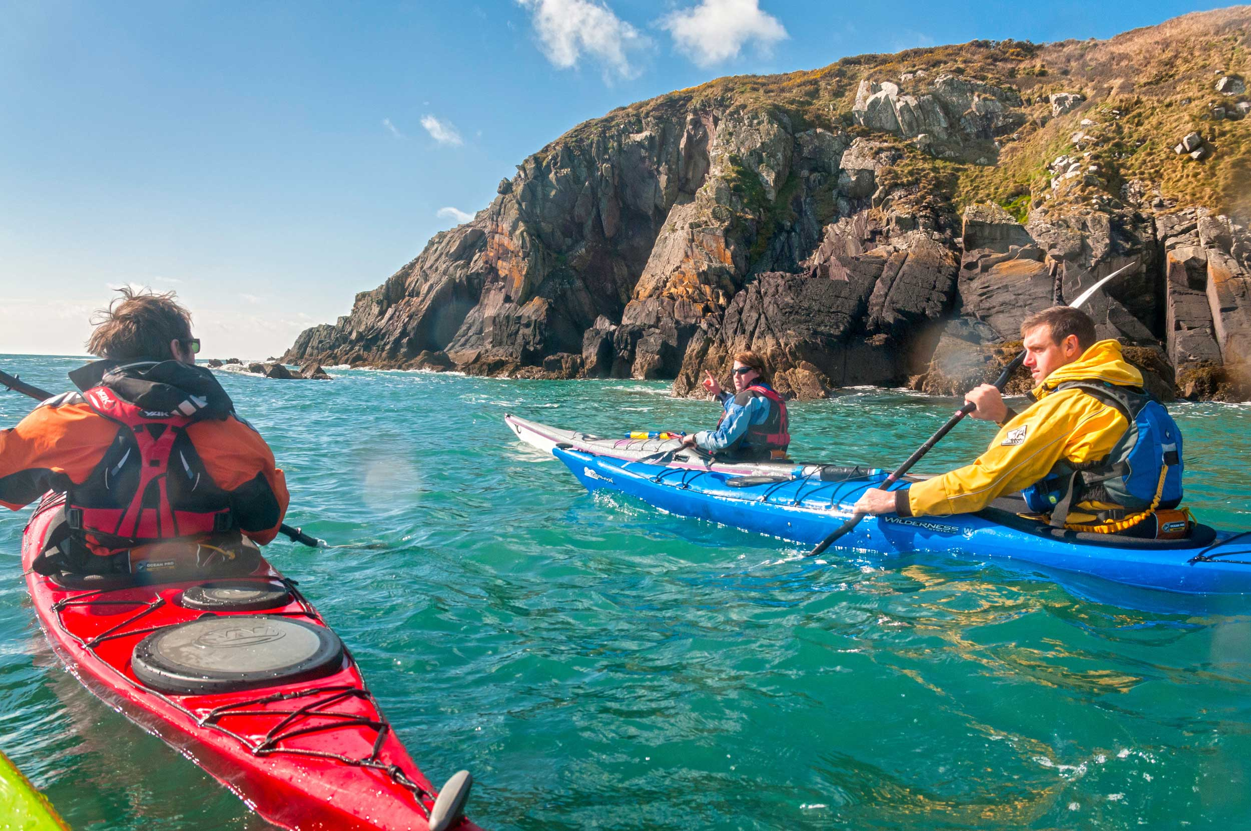 Sea kayaking around the Pembrokeshire coast, Wales  (Crown copyright 2018 / Visit Wales)
