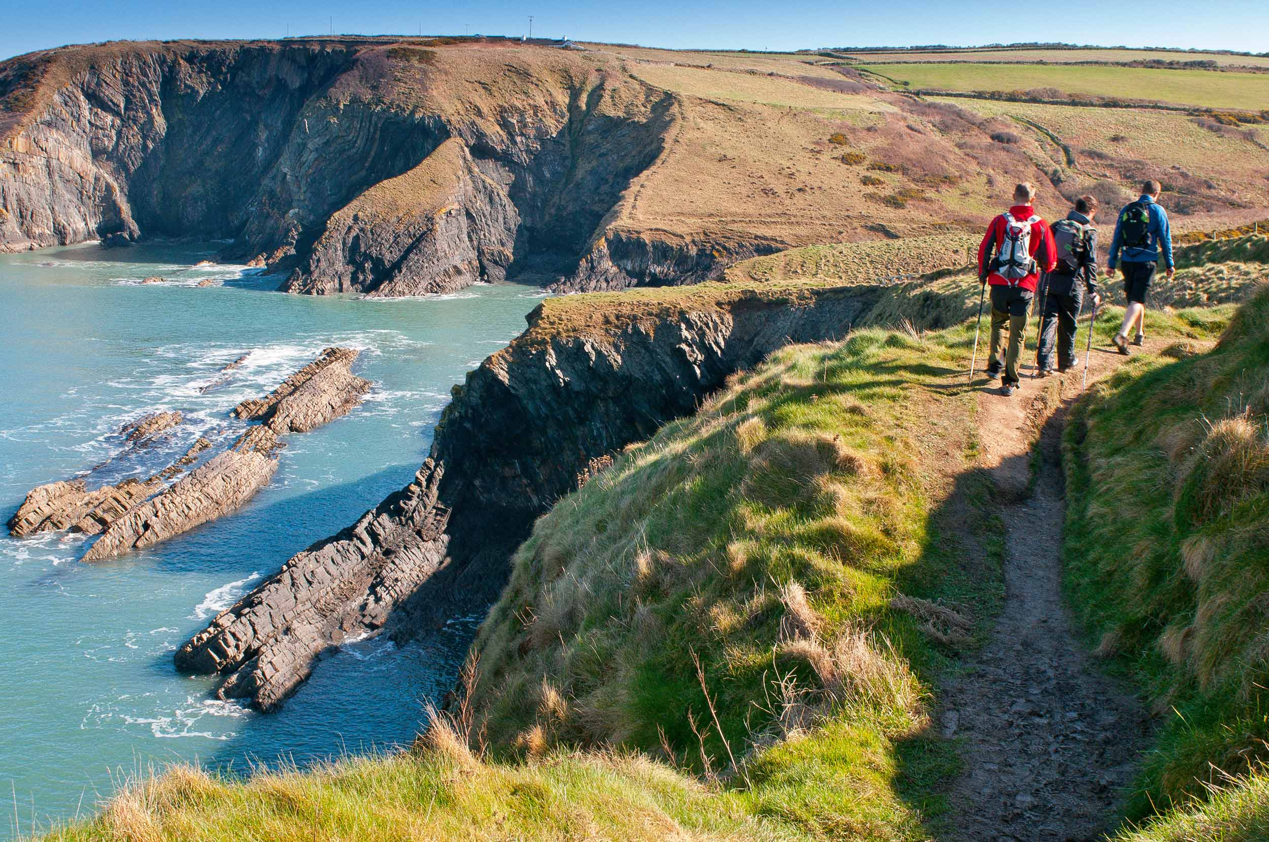 Walkers on the Pembrokeshire Coast Path, Wales  (Crown copyright 2018 / Visit Wales)