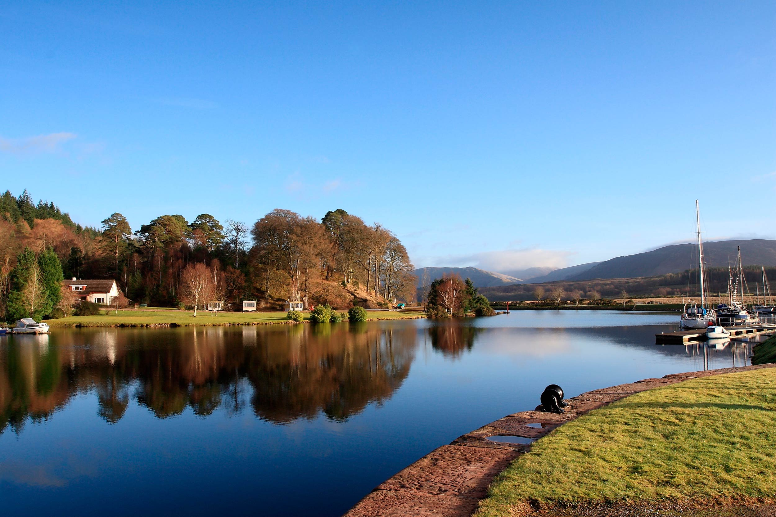 The Caledonian Canal at Gairlochy, in the Great Glen, Scotland  (John A Cameron/Shutterstock)