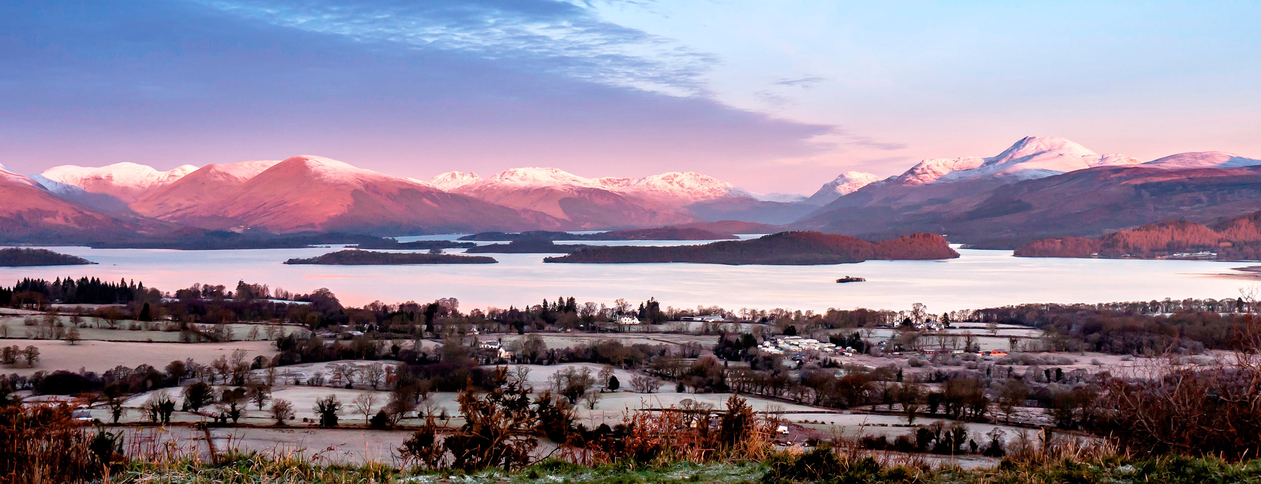 "The Luss Hills, Arrochar Hills and Ben Lomond from Duncryne Hill aka Gartocharn, ""The Dumpling""  (David McElroy/Shutterstock)"