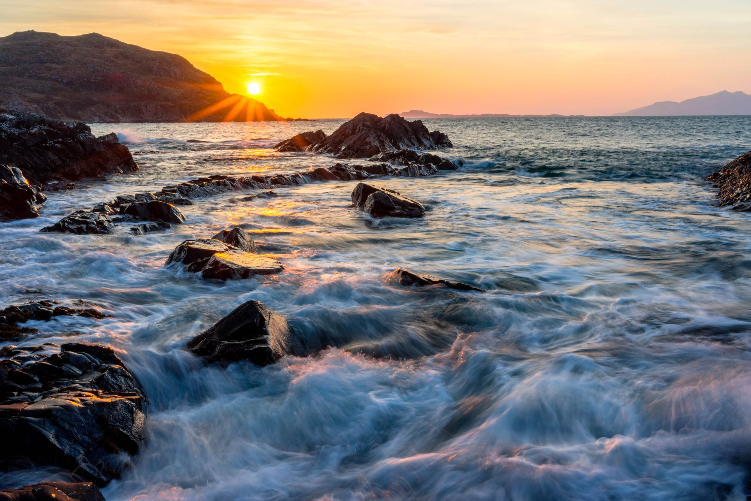 A very thrilling sunset somewhere in the vicinity of Morar, Moidart & Ardnamurchan, on Scotland's west coast  (Adam Major/Shutterstock)