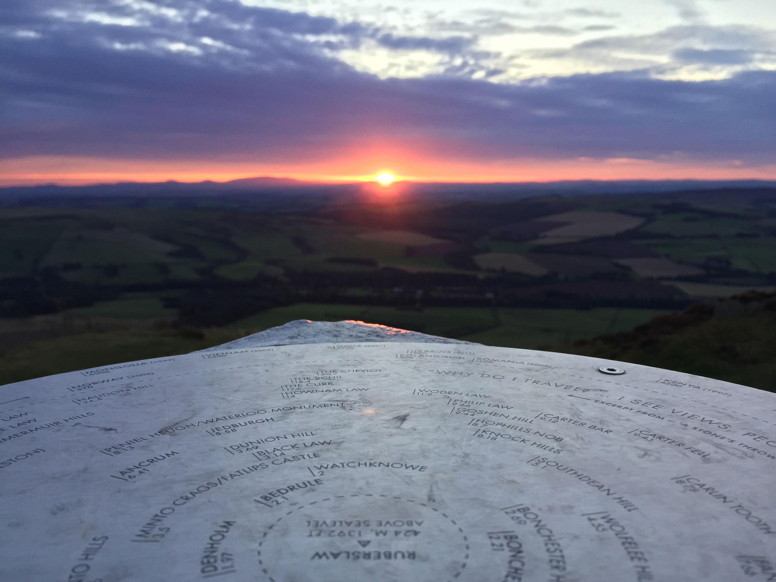 Sunrise from Ruberslaw, Scottish Borders  (Humphrey Butler/Marvellous Maps)