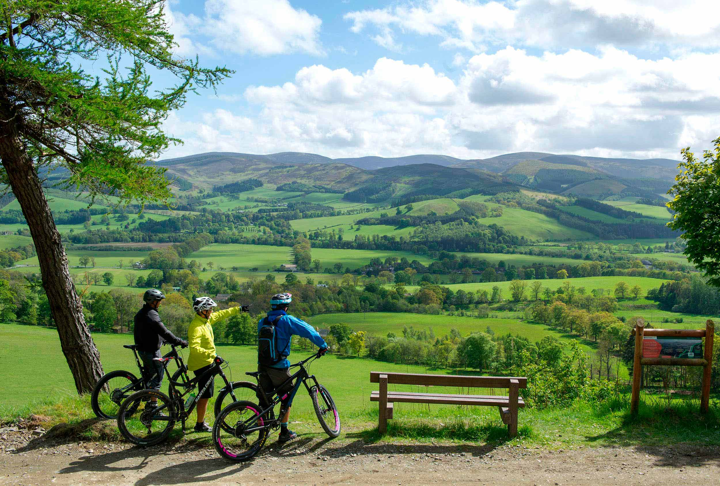 The Tweed valley from Glentress Forest  (VisitScotland)