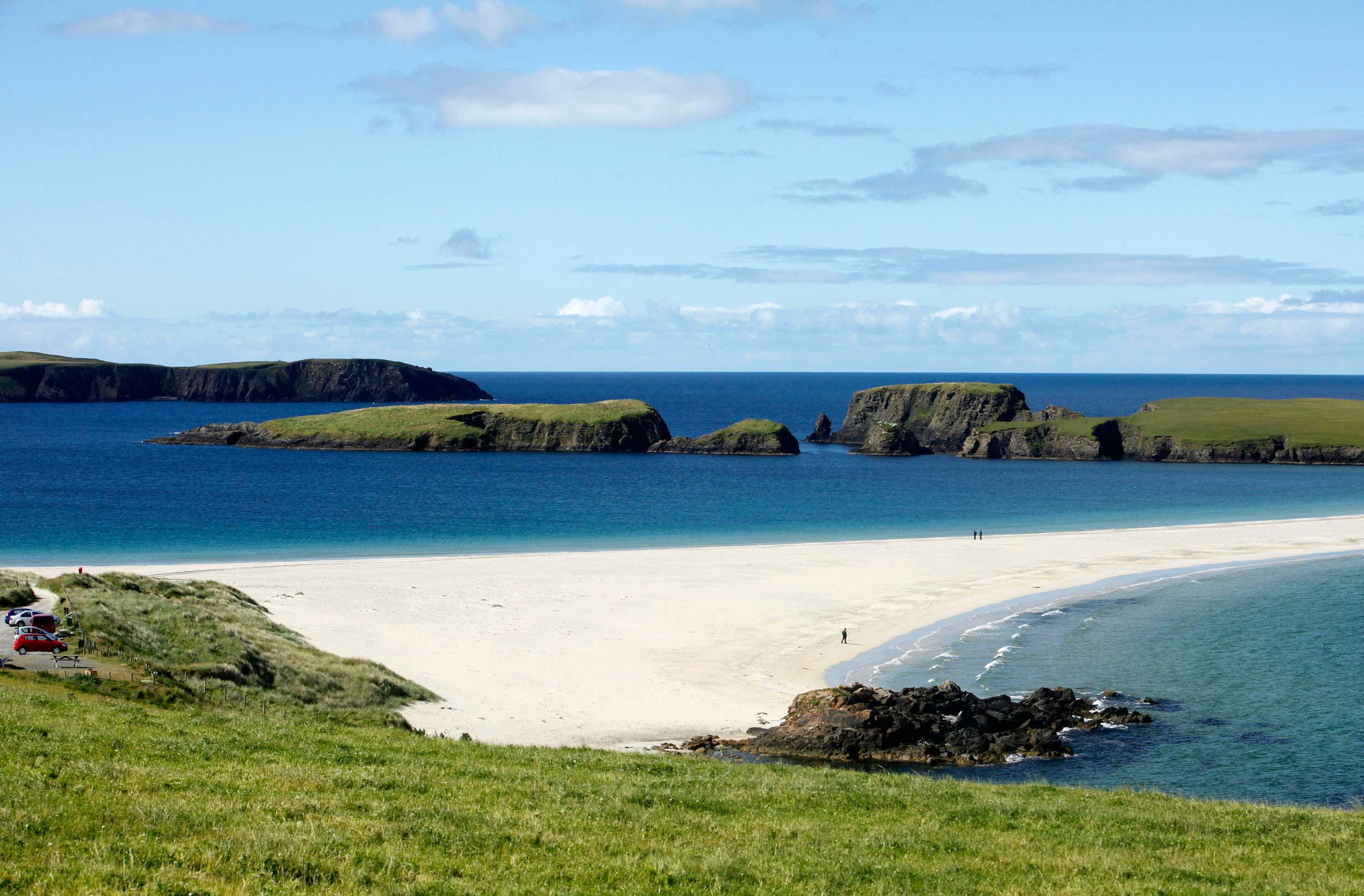 St. Ninian's Isle and a tombolo, Shetland  (VisitScotland)