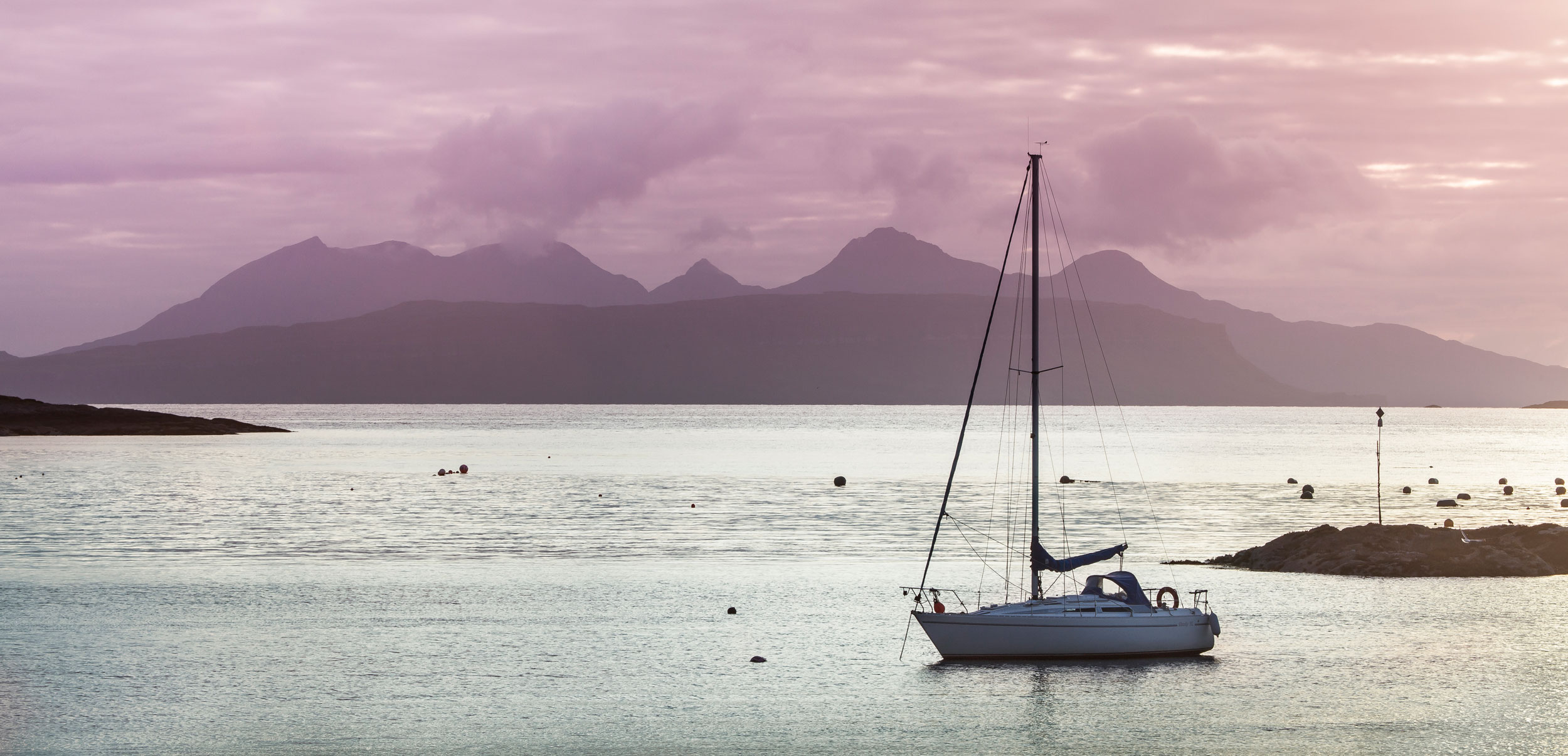 The Isle of Rum from Glenuig Bay and Loch Ailort on the mainland  (Jan Holm/Shutterstock)