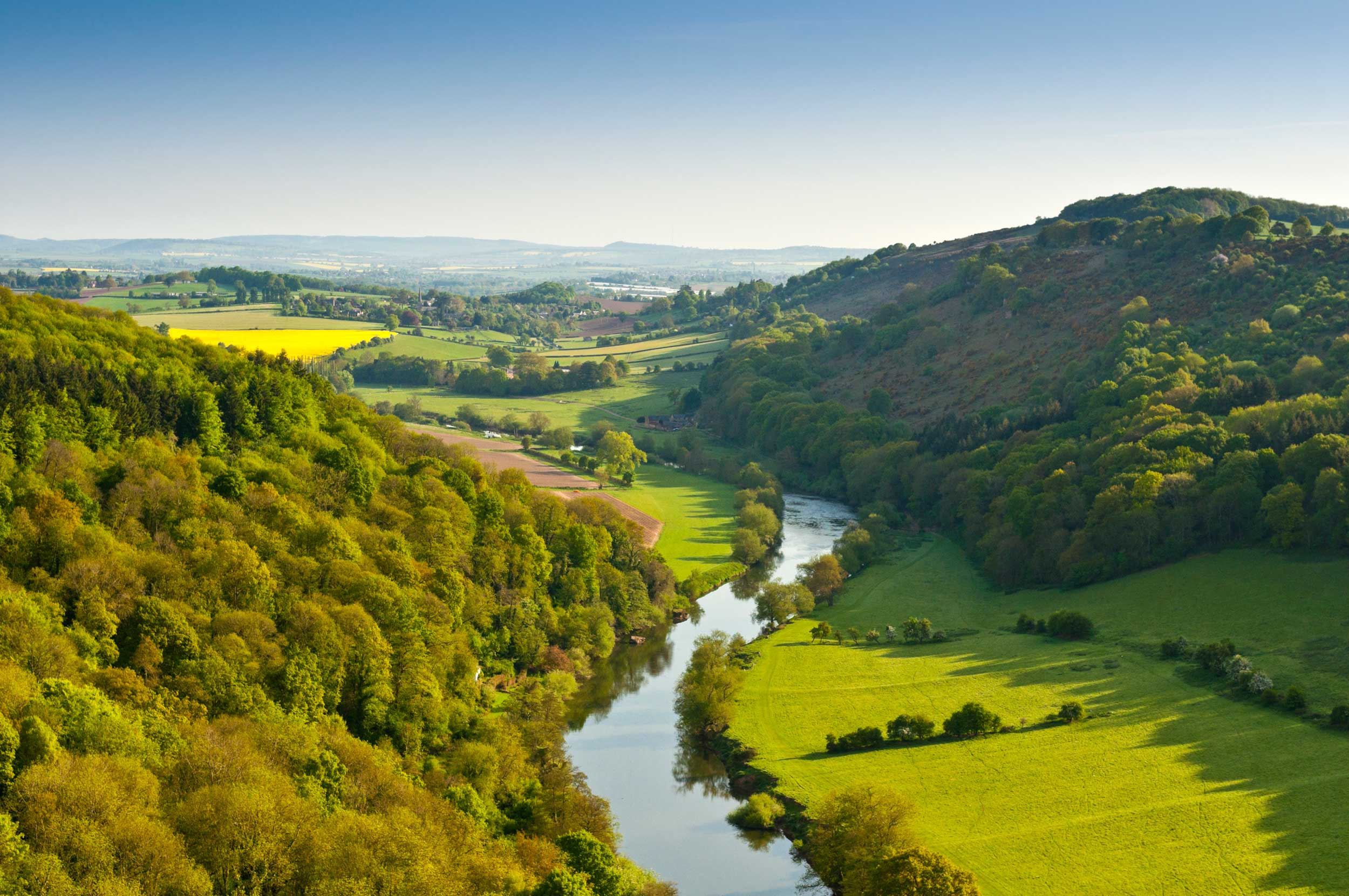 The River Wye from Symonds Yat, Herefordshire, England  (Matthew Dixon/Shutterstock)