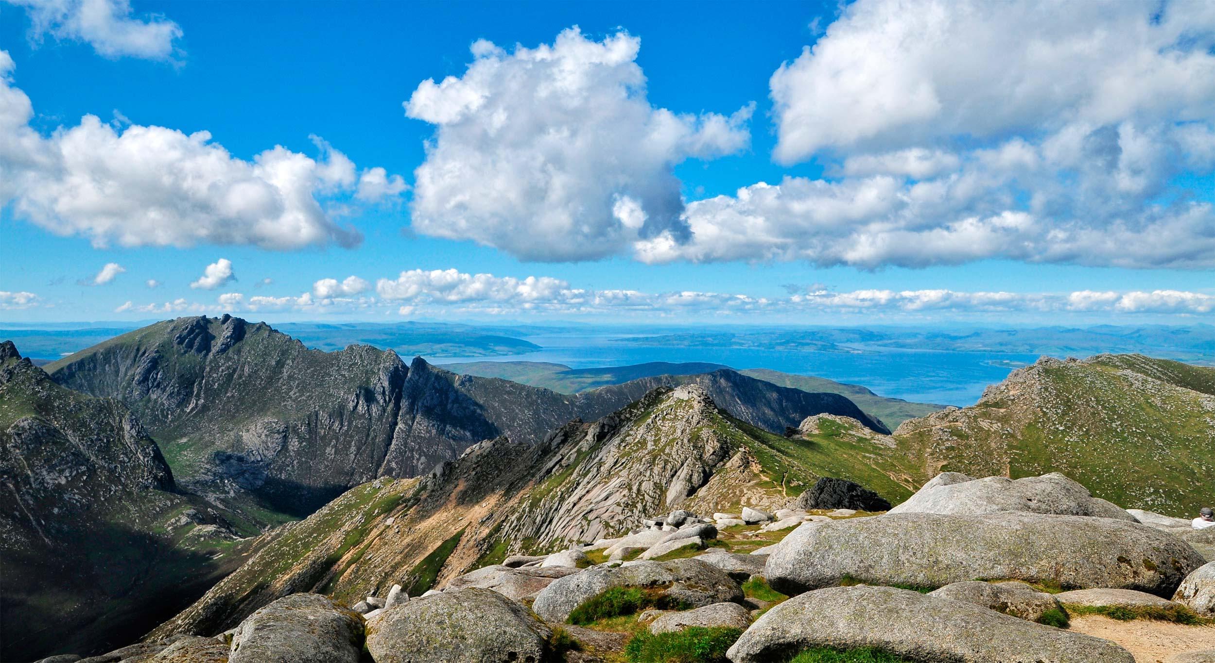 View from Goat Fell summit, Arran  (Shutterstock)