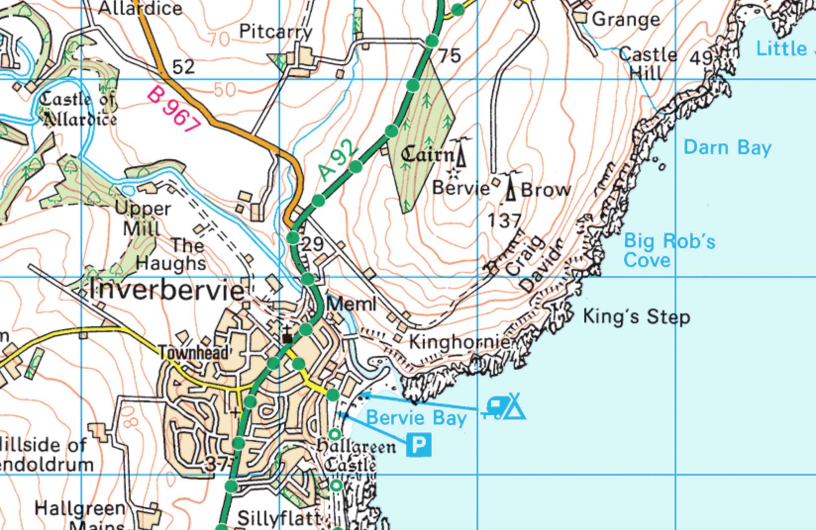 An unsuspecting piece of Aberdeenshire coast  (Ordnance Survey)