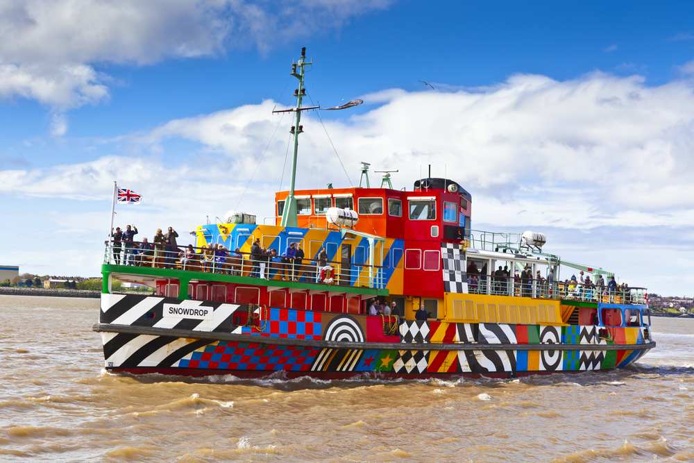 A Mersey ferry, an unmissable part of any music-themed tour of Britain  (Shutterstock / Debu55y)