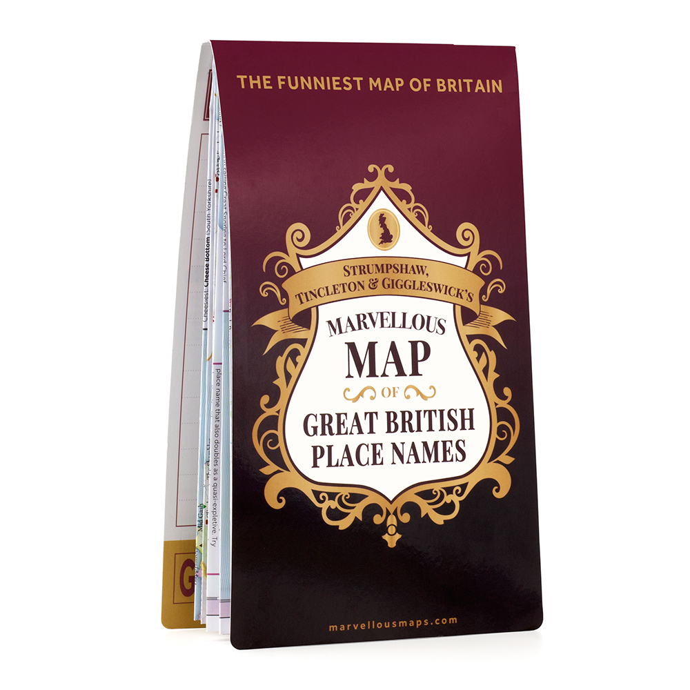 ST&G's Marvellous Map of Great British Place Names - Folded 1 front 1000px