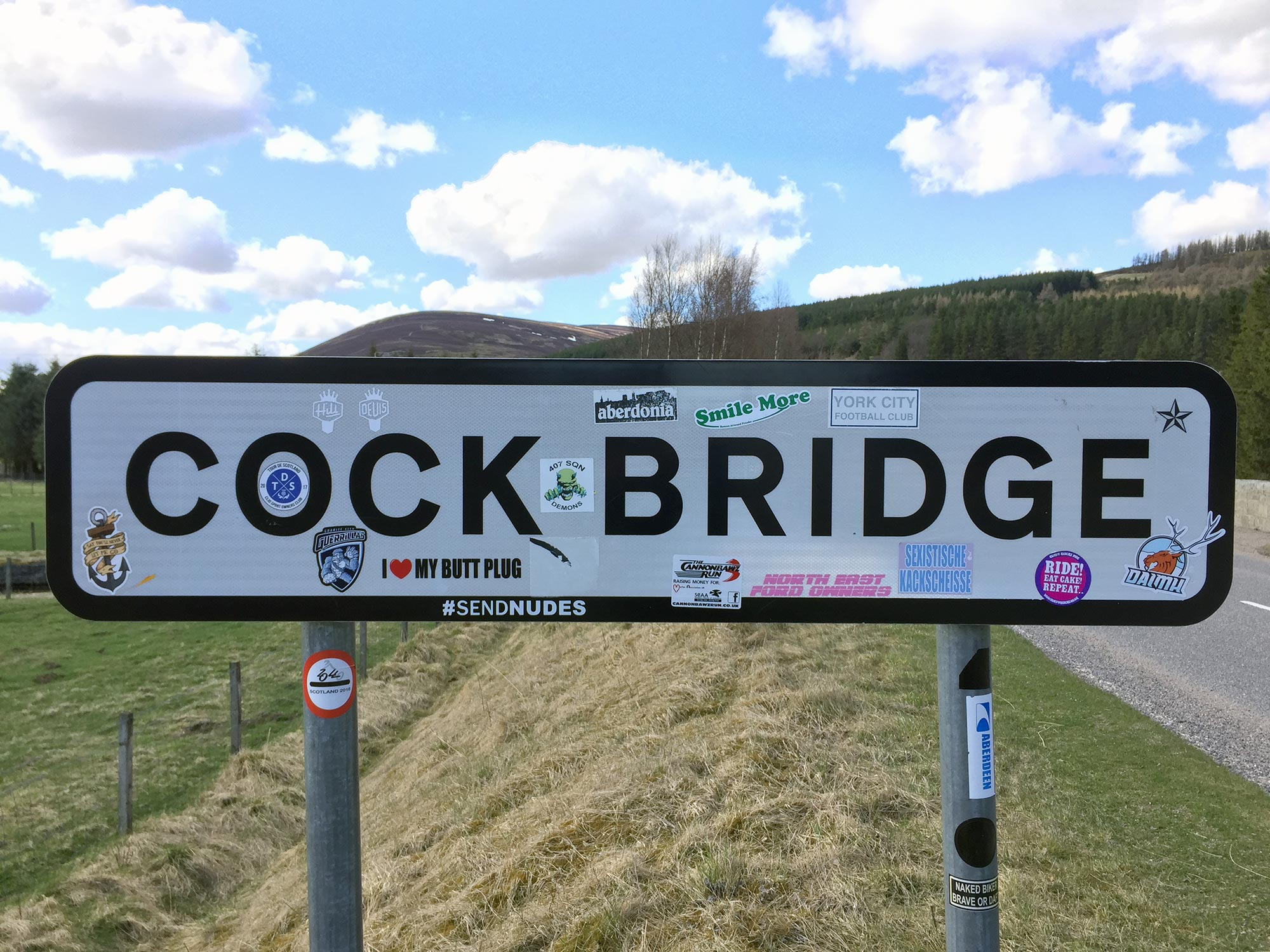 Cock Bridge, Cairngorms: a favourite among people who always seem to have the perfect sticker for the occasion  (Humphrey Butler / Marvellous Maps)