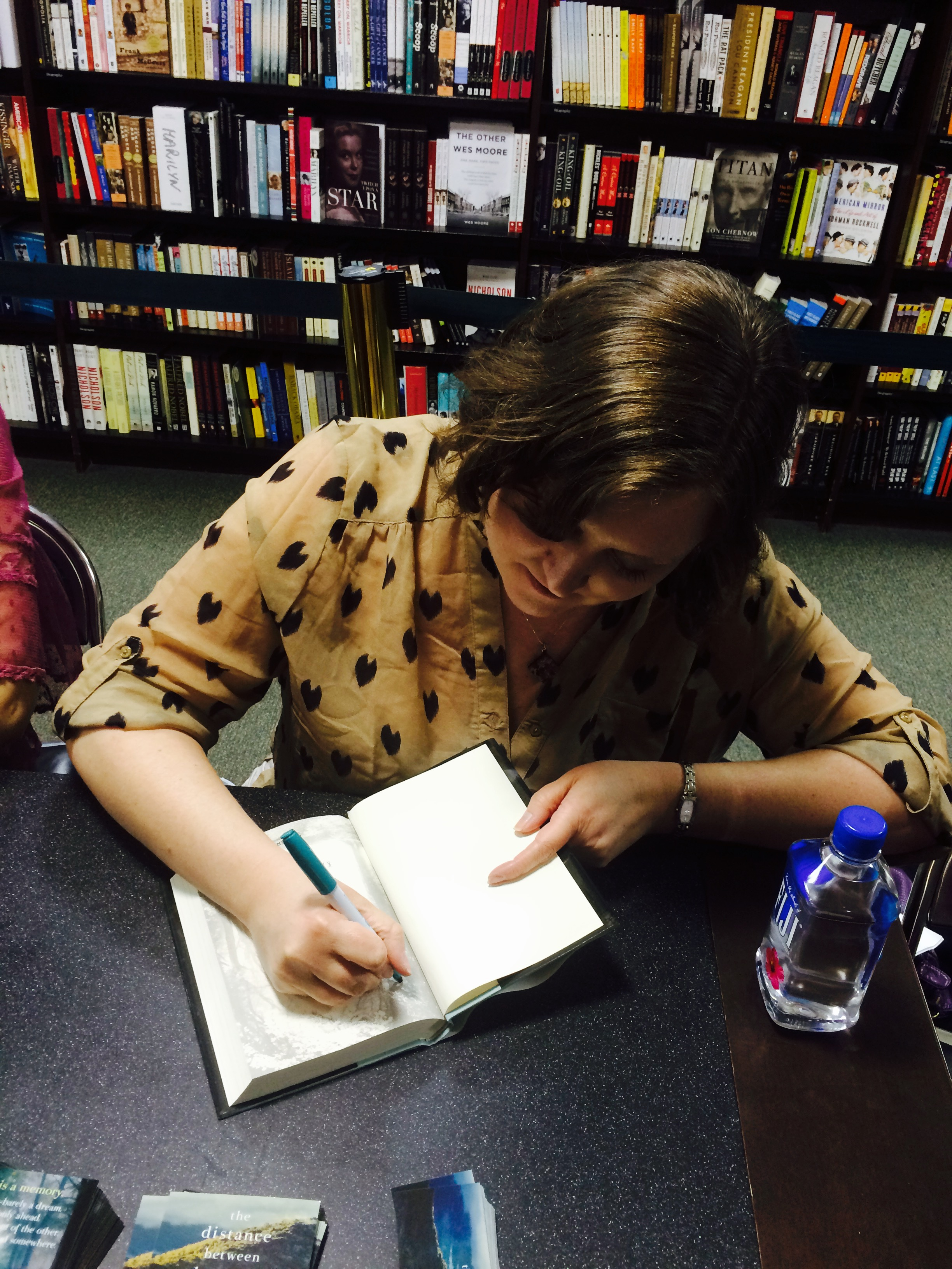 Signing books following the Barnes & Noble Reader's Theater (March 2015)
