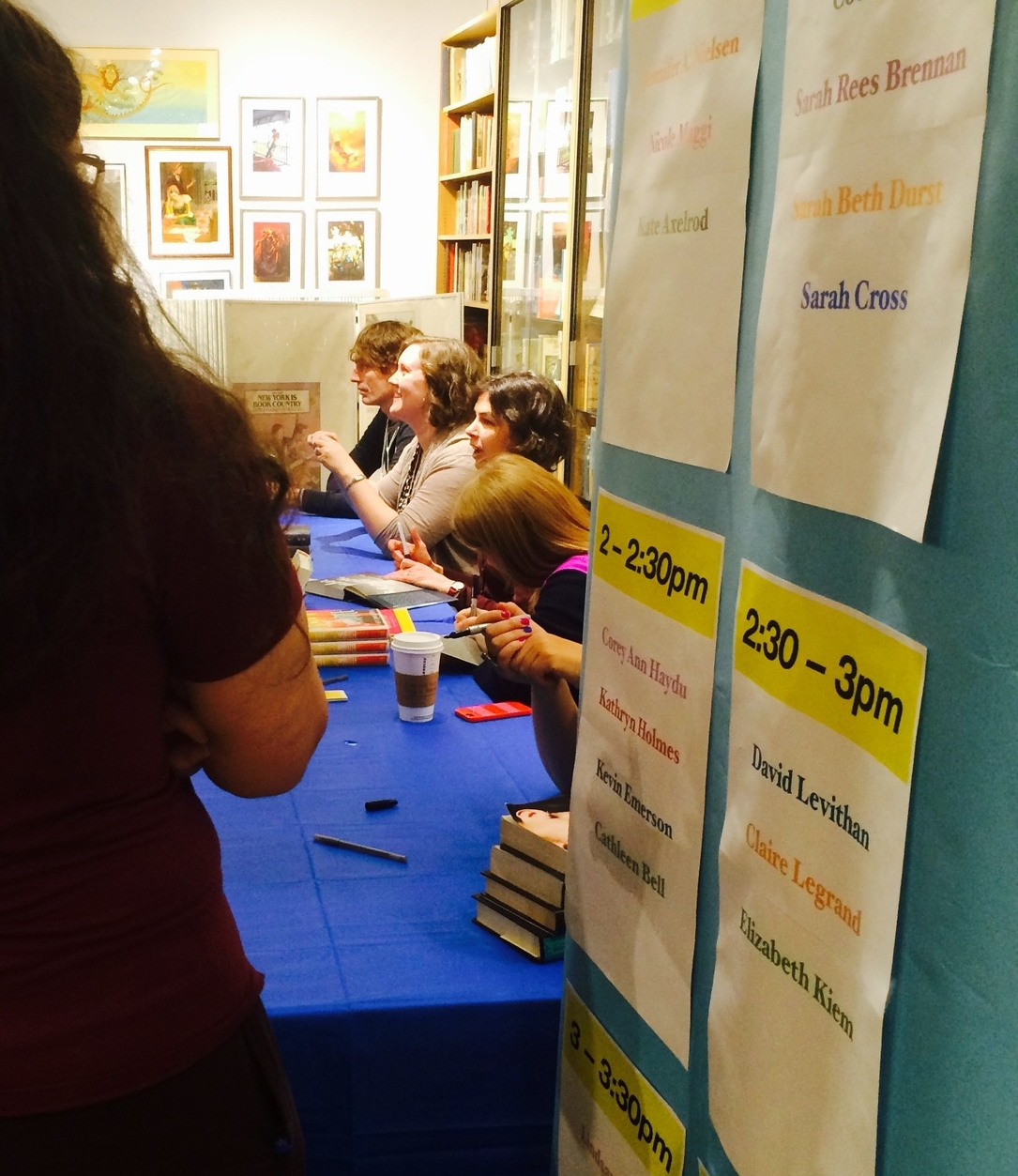 """Meeting readers at theNYC Teen Author Festival """"Mega-Signing"""" at Books of Wonder (March 2015)"""