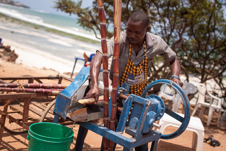 Sugar cane juice, Dar es Salaam