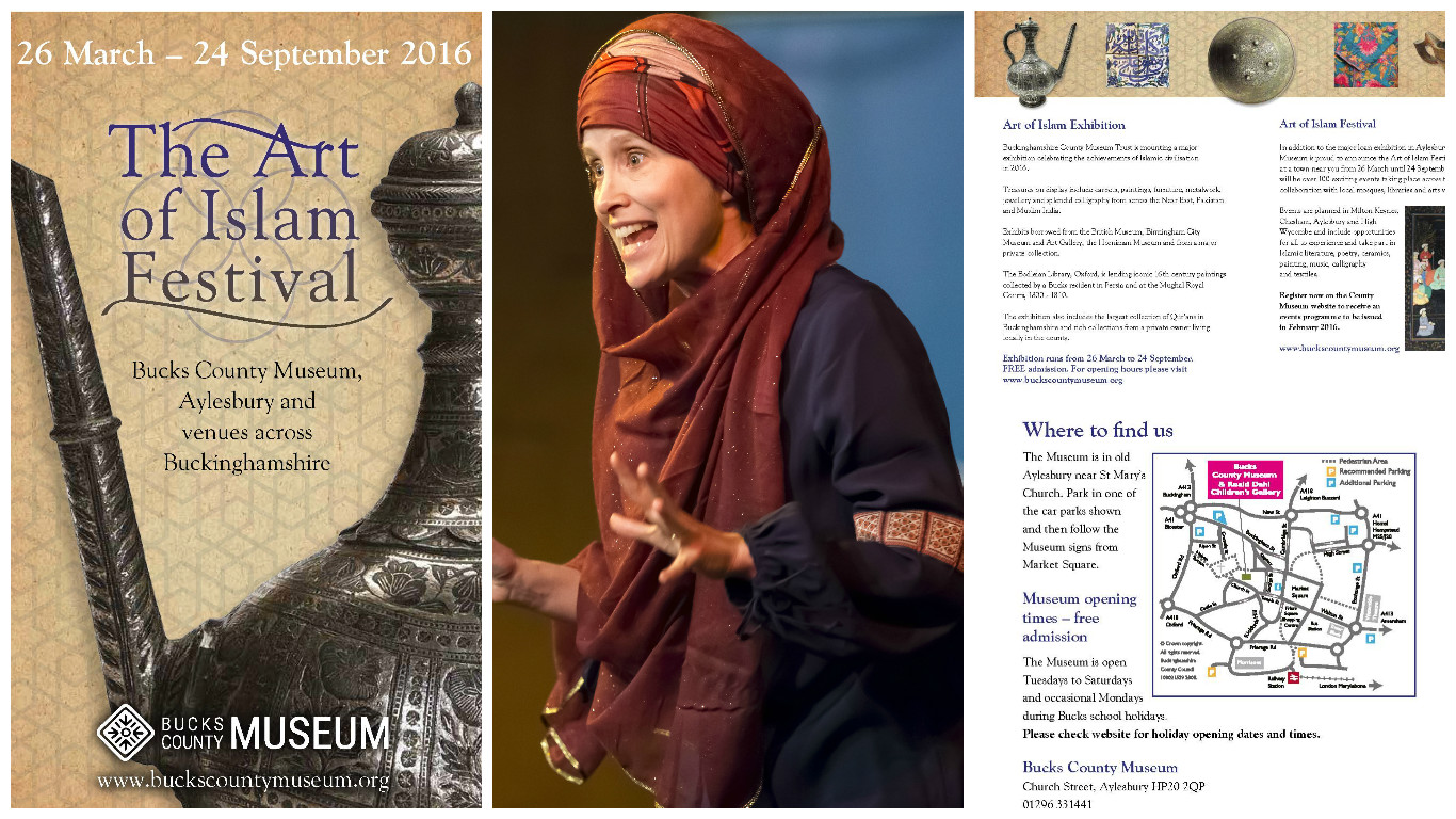 We are delighted to be sharing performances of stories from Muslim literature for families at Bucks County Museum's The Art of Islam Festival as follows:  Sat 9th April at 2pm @ Bucks County Museum, Aylesbury For more info and to book visit:  http://www.buckscountymuseum.org/…/al-khayaal-theatre-comp…/   Sat 16th April at 2pm @ Milton Keynes Library For more info and to book visit:  http://www.buckscountymuseum.org/…/al-khayaal-theatre-comp…/   Sat 23rd April at 3pm @ High Wycombe Library For more info and to book visit:  http://www.buckscountymuseum.org/…/al-khayaal-theatre-comp…/   Performances will start promptly and last for 45-50 minutes. The stories are pitched to mixed age family audiences. Photo credit ©  Saleh Ahmed   We will also be delivering drama workshops for select secondary schools in July as part of the festival.